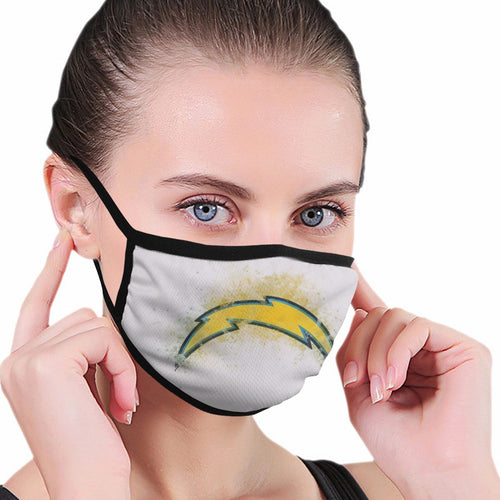 Chargers Logo Anti-infective Polyester Face Mask-Heroinhere