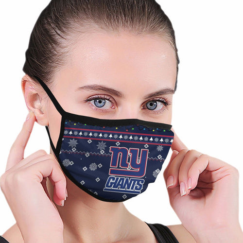 Giants Team Christmas Ugly Anti-infective Polyester Face Mask-Heroinhere