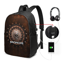 Load image into Gallery viewer, 3D Skull American Football Team Broncos Travel Laptop Backpack USB Backpack 17 IN-Heroinhere