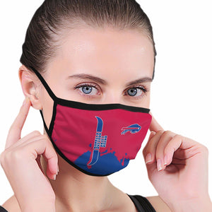 Bills Team Anti-infective Polyester Face Mask-Heroinhere