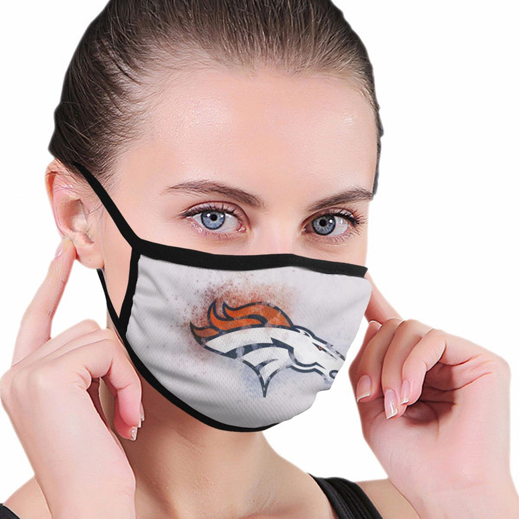 Broncos Logo Anti-infective Polyester Face Mask-Heroinhere