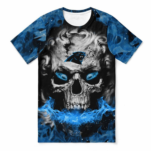 Panthers 3D Skull T-shirts For Women-Heroinhere