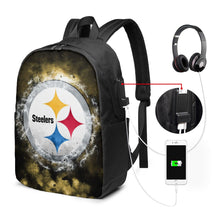 Load image into Gallery viewer, Steelers Illustration Art Travel Laptop Backpack USB Backpack 17 IN-Heroinhere
