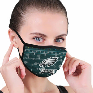 Eagles Team Christmas Ugly Anti-infective Polyester Face Mask-Heroinhere