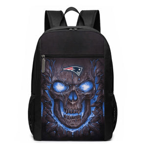 Patriots Skull Lava Travel Laptop Backpack 17 IN-Heroinhere