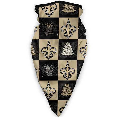 Saints Team Ugly Christmas Obacle Seamless Bandana Rave Face Mask-Heroinhere