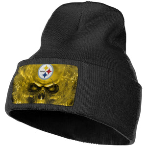 3D SKull Steelers Knit Hat Cap-Heroinhere