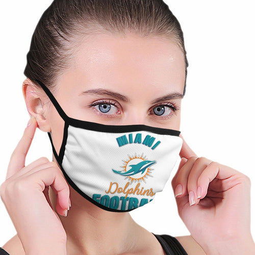 Dolphins Football Team Anti-infective Polyester Face Mask-Heroinhere