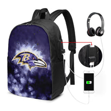 Load image into Gallery viewer, Ravens Illustration Art Travel Laptop Backpack USB Backpack 17 IN-Heroinhere
