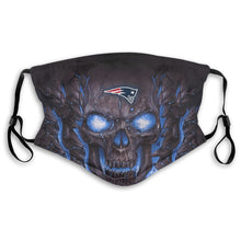 Load image into Gallery viewer, Patriots Skull Lava Anti-infective Polyester Face Mask With Filter-Heroinhere