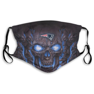 Patriots Skull Lava Anti-infective Polyester Face Mask With Filter-Heroinhere
