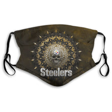 Load image into Gallery viewer, 3D Skull American Football Team Steelers Anti-infective Polyester Face Mask With Filter-Heroinhere