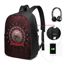 Load image into Gallery viewer, 3D Skull American Football Team Redskins Travel Laptop Backpack USB Backpack 17 IN-Heroinhere