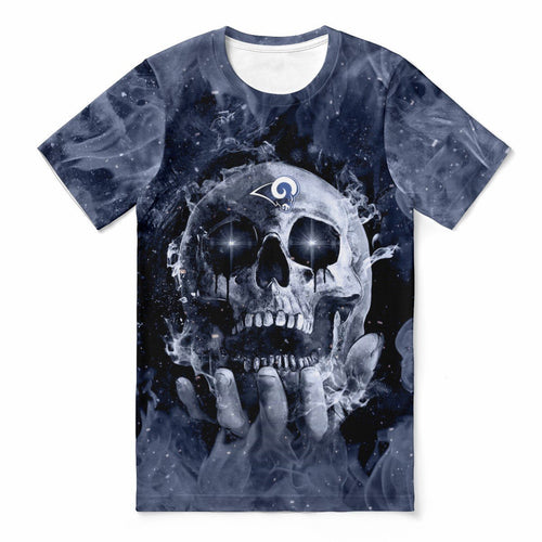 Rams With Fire Skull T-shirts For Women-Heroinhere