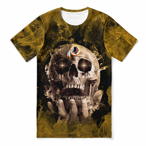 Redskins With Fire Skull T-shirts For Women-Heroinhere