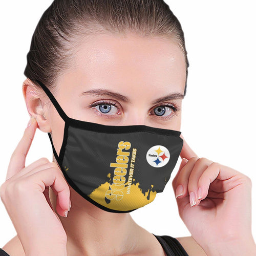 Steelers Team Anti-infective Polyester Face Mask-Heroinhere