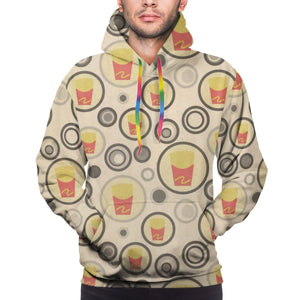 French Fries Pattern Hoodies For Men Pullover Sweatshirt-Heroinhere