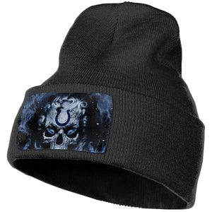 3D Skull Colts Knit Hat Cap-Heroinhere
