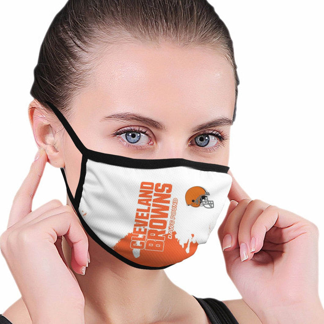 Browns Team Anti-infective Polyester Face Mask-Heroinhere