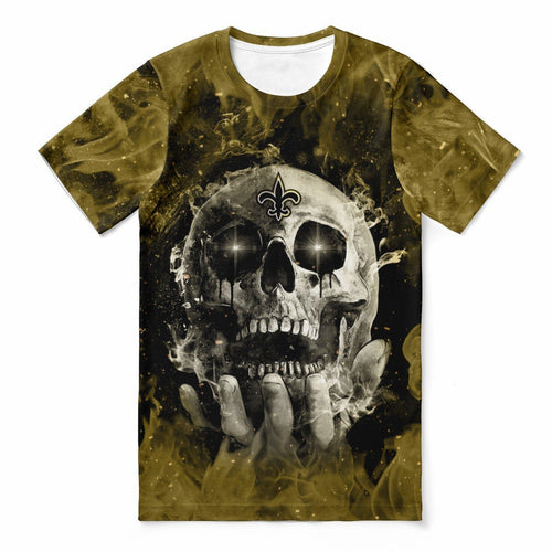 Saints With Fire Skull T-shirts For Women-Heroinhere