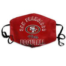 Load image into Gallery viewer, 49ers Football Team Anti-infective Polyester Face Mask-Heroinhere