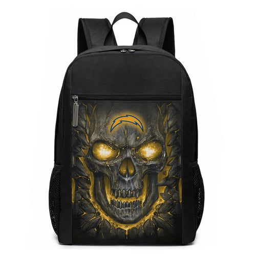 Chargers Skull Lava Travel Laptop Backpack 17 IN-Heroinhere