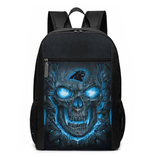 Panthers Skull Lava Travel Laptop Backpack 17 IN-Heroinhere