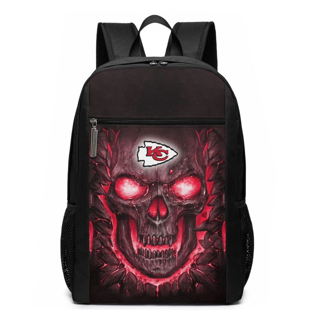 Chiefs Skull Lava Travel Laptop Backpack 17 IN-Heroinhere