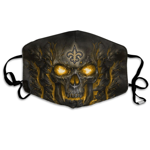 QIANOU66 Skull Lava Saints Anti-infective Polyester Face Mask-Heroinhere
