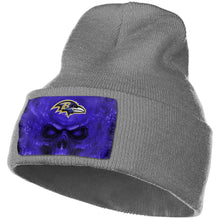 Load image into Gallery viewer, 3D Skull Ravens Knit Hat Cap-Heroinhere