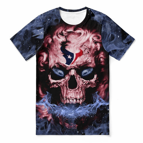 Texans 3D Skull T-shirts For Women-Heroinhere