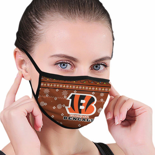 Bengals Team Christmas Ugly Anti-infective Polyester Face Mask-Heroinhere