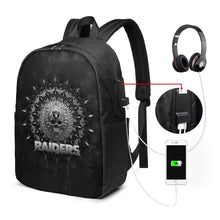 Load image into Gallery viewer, 3D Skull American Football Team Raiders Travel Laptop Backpack USB Backpack 17 IN-Heroinhere