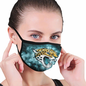 Jaguars Illustration Art Anti-infective Polyester Face Mask-Heroinhere