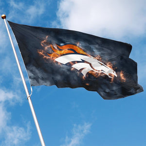 Broncos Illustration Art Flag 3*5 ft-Heroinhere