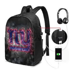 Giants Illustration Art Travel Laptop Backpack USB Backpack 17 IN-Heroinhere