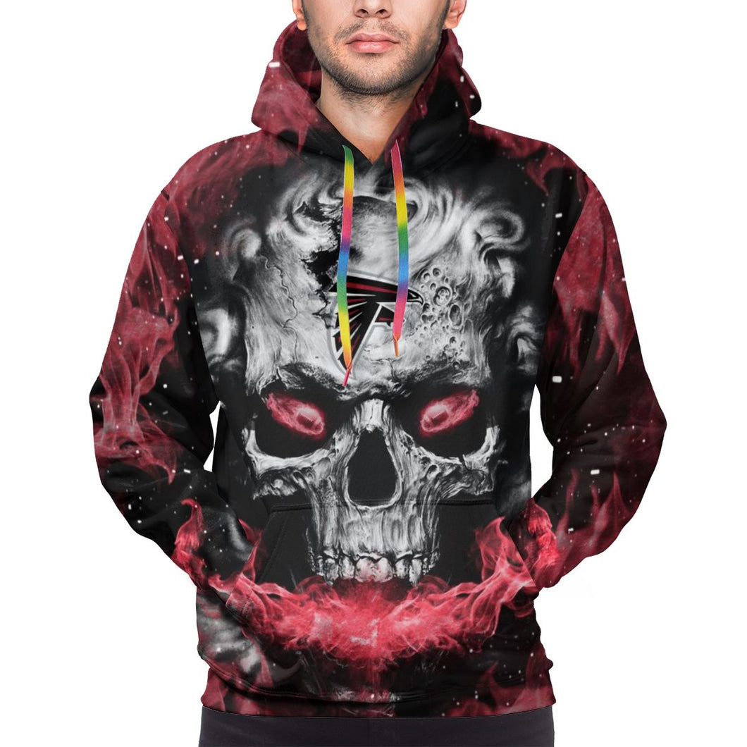 QIANOU66 3D Skull Falcons Hoodies For Men Pullover Sweatshirt-Heroinhere