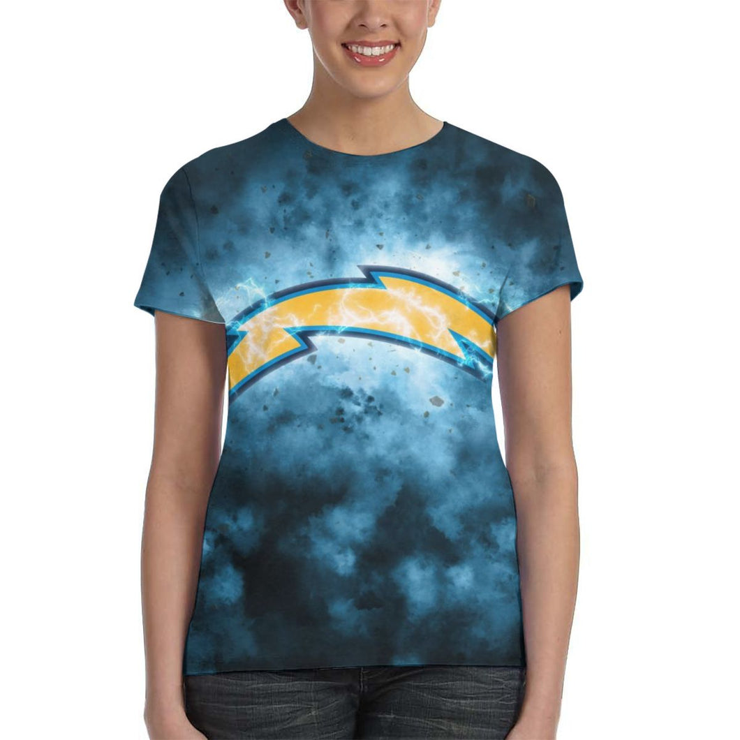 Chargers Illustration Art T Shirts For Women-Heroinhere