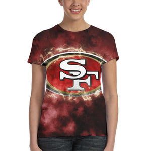 49ers Illustration Art T Shirts For Women-Heroinhere