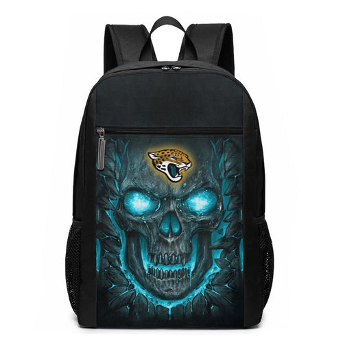 Jaguars 3D Skull Lava Travel Laptop Backpack 17 IN-Heroinhere