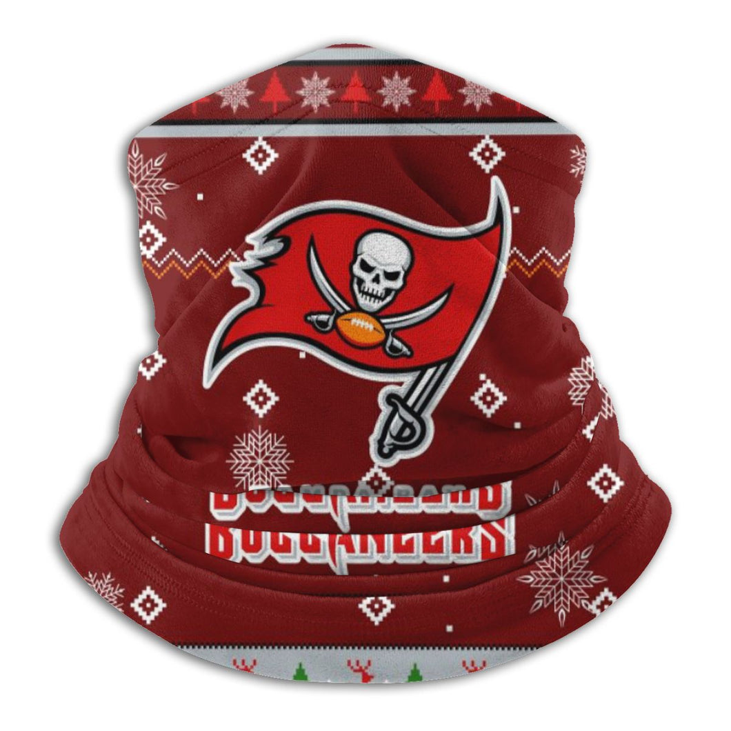 Buccaneers Team Christmas Ugly Seamless Face Mask Bandanas-Heroinhere