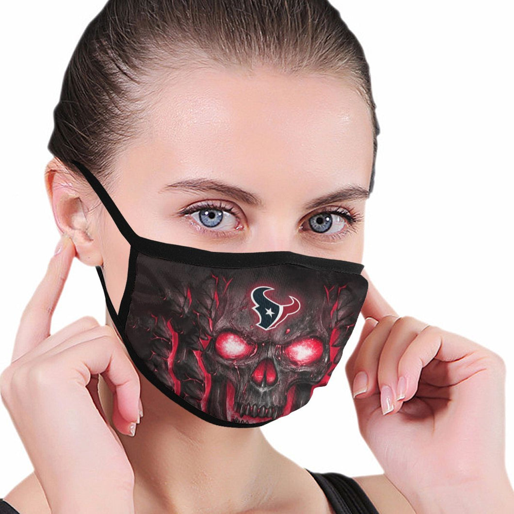 QIANOU66 Skull Lava Texans Anti-infective Polyester Face Mask-Heroinhere