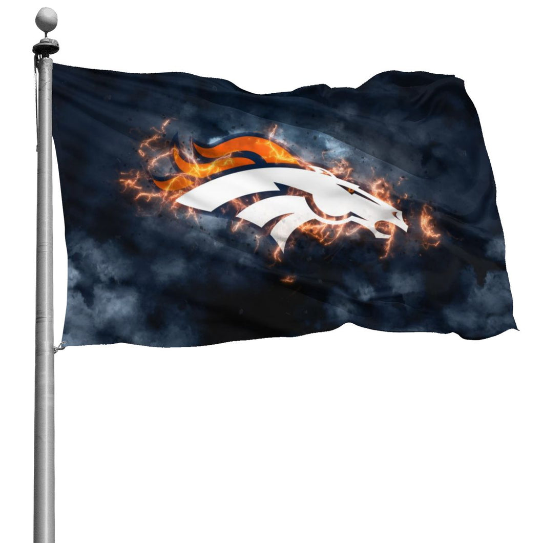 Broncos Illustration Art Flag 4*6 ft-Heroinhere