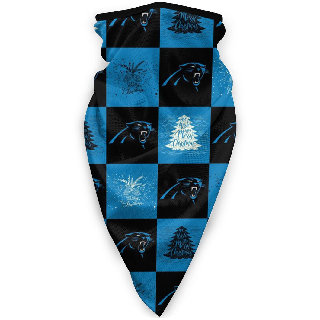 Panthers Team Ugly Christmas Obacle Seamless Bandana Rave Face Mask-Heroinhere