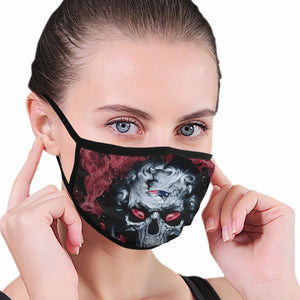 QIANOU66 3D Skull Patriots Anti-infective Polyester Face Mask-Heroinhere