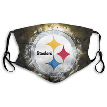 Load image into Gallery viewer, Steelers Illustration Art Anti-infective Polyester Face Mask With Filter-Heroinhere