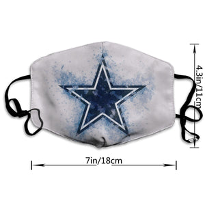 Cowboys Logo Anti-infective Polyester Face Mask-Heroinhere