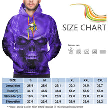 Load image into Gallery viewer, 3D Skull Vikings Hoodies For Men Pullover Sweatshirt-Heroinhere