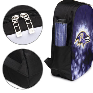 Ravens Illustration Art Travel Laptop Backpack USB Backpack 17 IN-Heroinhere