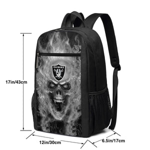 3D Skull Raiders Travel Laptop Backpack 17 IN-Heroinhere